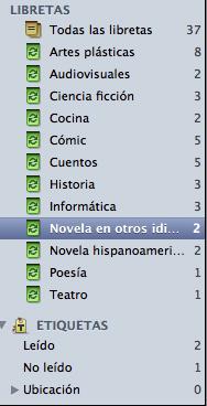 Libretas biblioteca Evernote