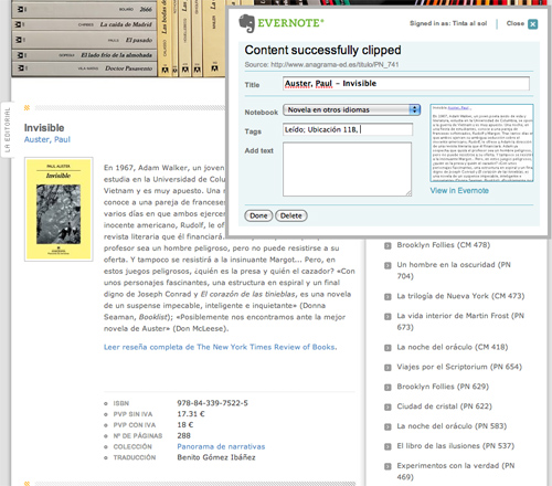 Captura webs evernote chrome