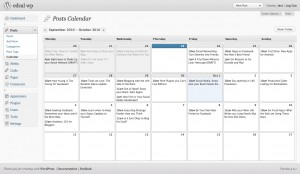 Editorial calendar para WordPress