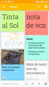 Mosaico de notas