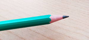 lápiz afilado
