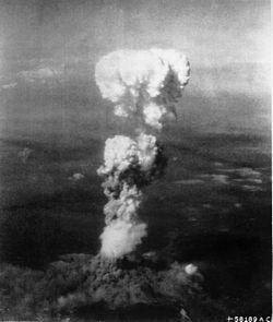 Nube de hongo sobre Hiroshima